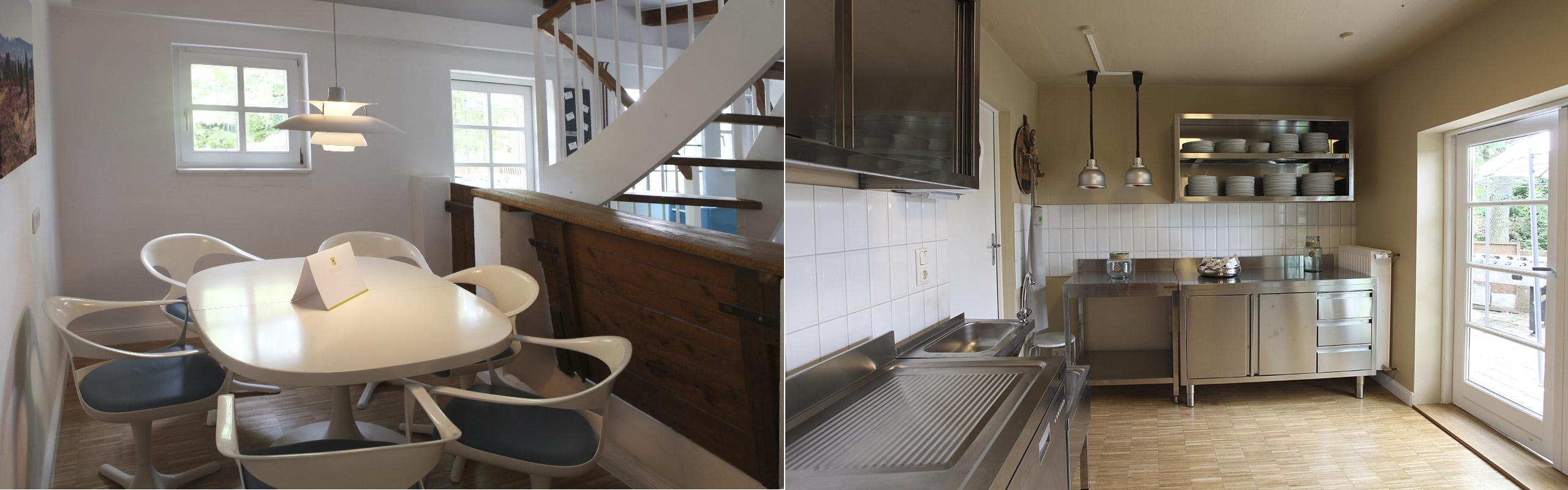 Seminarhaus Fachwerk63 Lounge und Küche