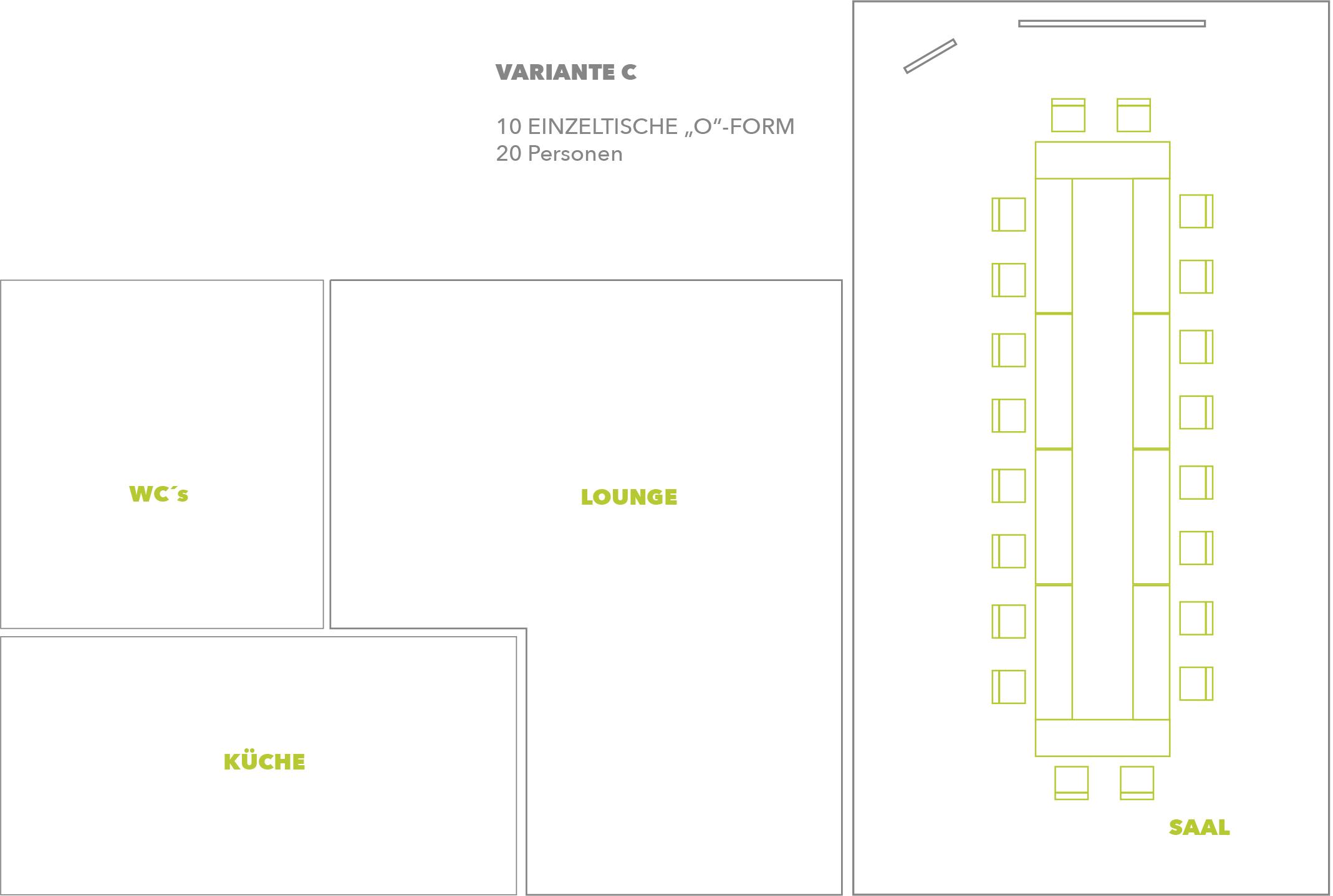 Seminarraum & Tagungsraum Variante C